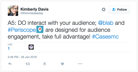 Livestream video best practice: engage with your audience.