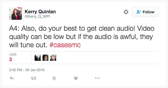 Livestream video best practice: quality audio.