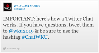 Engage your admitted students with a Twitter chat.